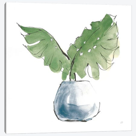 Plant Big Leaf II Dark Green 3-Piece Canvas #CPA173} by Chris Paschke Canvas Artwork