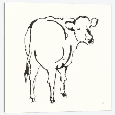 Line Cow Canvas Print #CPA183} by Chris Paschke Canvas Print