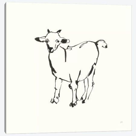 Line Goat Canvas Print #CPA184} by Chris Paschke Canvas Art