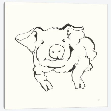 Line Pig II Canvas Print #CPA187} by Chris Paschke Canvas Artwork