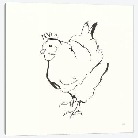 Line Chicken II Canvas Print #CPA189} by Chris Paschke Canvas Art Print