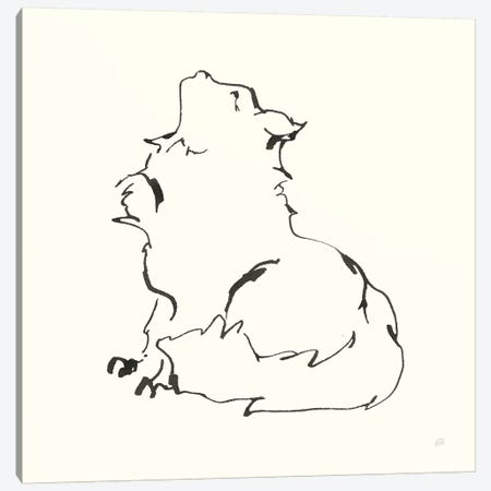 Line Kitten I Canvas Print #CPA192} by Chris Paschke Canvas Wall Art
