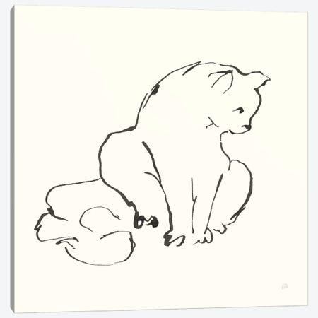 Line Kitten II Canvas Print #CPA193} by Chris Paschke Canvas Art