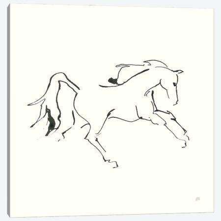 Line Horse VII Canvas Print #CPA201} by Chris Paschke Canvas Art