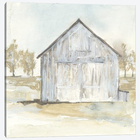 White Barn I Canvas Print #CPA206} by Chris Paschke Art Print