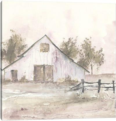 White Barn II Canvas Art Print