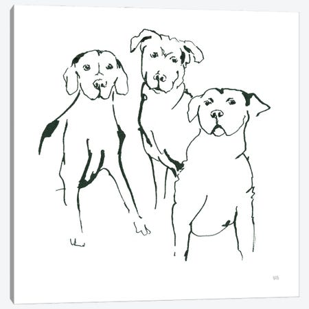 Lovable Mutts II Canvas Print #CPA222} by Chris Paschke Canvas Artwork
