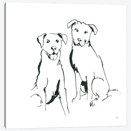 Lovable Mutts III Canvas Print #CPA223} by Chris Paschke Canvas Art
