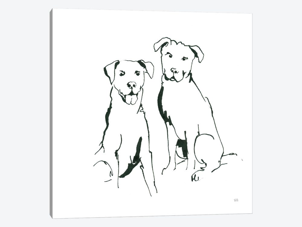 Lovable Mutts III by Chris Paschke 1-piece Canvas Print