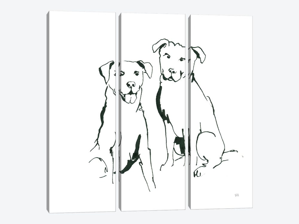Lovable Mutts III by Chris Paschke 3-piece Canvas Print