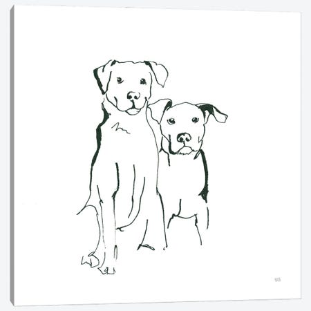 Lovable Mutts IV Canvas Print #CPA224} by Chris Paschke Art Print