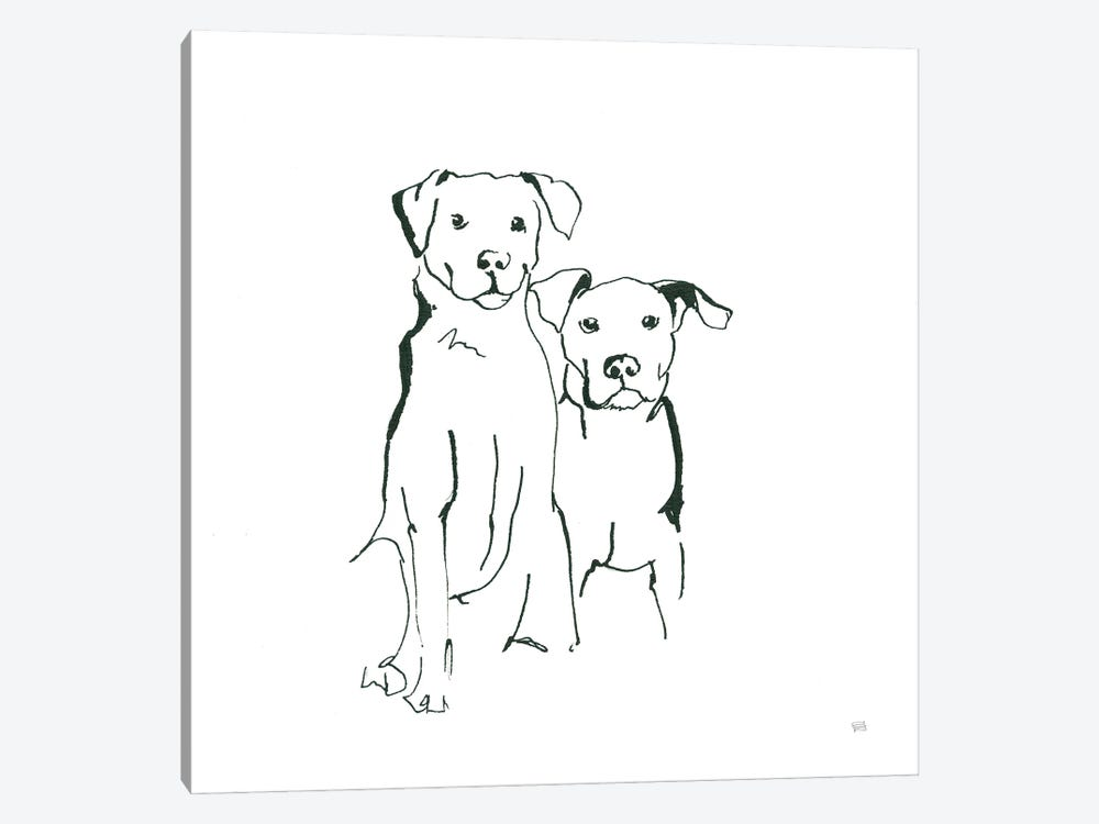Lovable Mutts IV by Chris Paschke 1-piece Canvas Wall Art