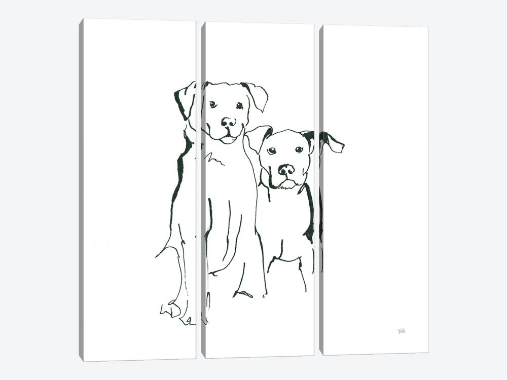 Lovable Mutts IV by Chris Paschke 3-piece Canvas Artwork