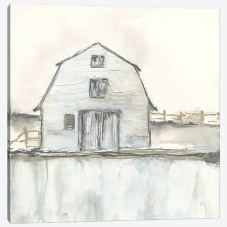 White Barn III Canvas Print #CPA268} by Chris Paschke Canvas Wall Art