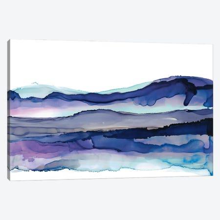 Coastal Ink I Blue Canvas Print #CPA275} by Chris Paschke Canvas Artwork