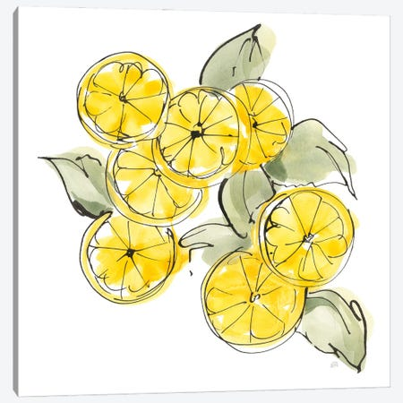 Cut Lemons I Canvas Print #CPA280} by Chris Paschke Canvas Art