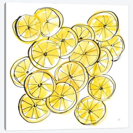 Cut Lemons III Canvas Print #CPA281} by Chris Paschke Canvas Wall Art