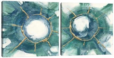 Dharma Wheel Diptych Canvas Art Print