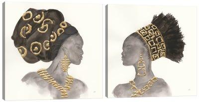 Headdress Beauty Diptych Canvas Art Print