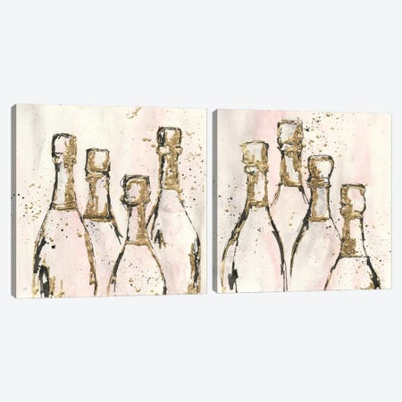 Champagne Diptychs Grand Diptych Canvas Print Set #CPA2HSET006} by Chris Paschke Canvas Wall Art
