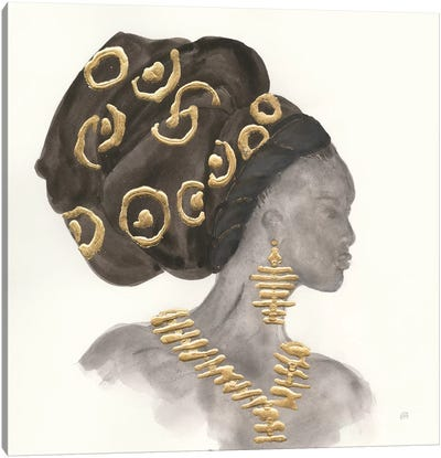 Headdress Beauty I Canvas Art Print