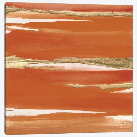 Gilded Mandarin I Burnt Orange Canvas Print #CPA36} by Chris Paschke Art Print