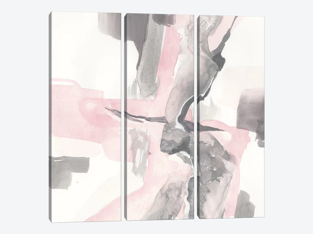 Blushing Grey I by Chris Paschke 3-piece Canvas Print
