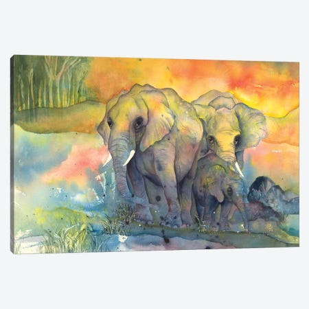 Elephants Canvas Print #CPA3} by Chris Paschke Canvas Artwork