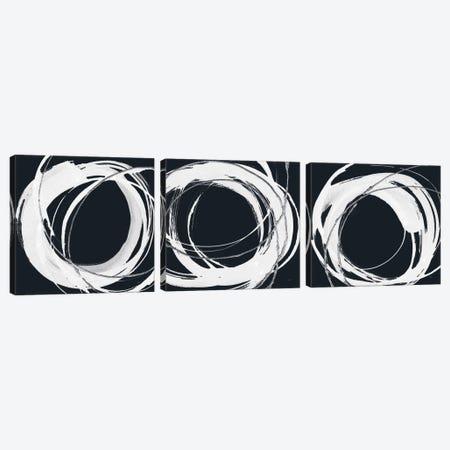 Gilded Enso Triptych BW Canvas Print Set #CPA3HSET001} by Chris Paschke Art Print