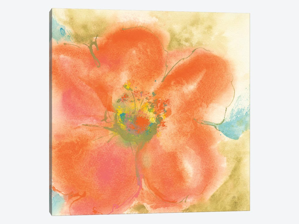 Coral Poppy II 1-piece Canvas Print