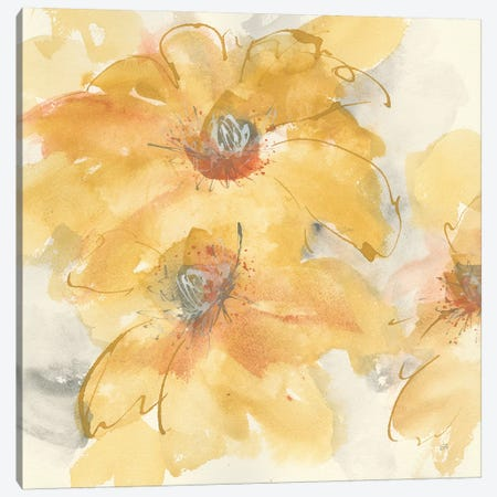 Golden Clematis I Canvas Print #CPA53} by Chris Paschke Canvas Wall Art