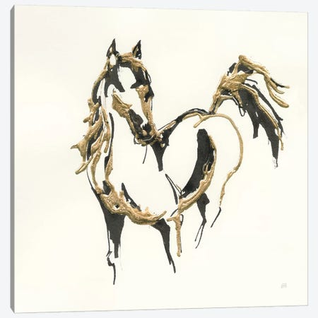 Golden Horse VII Canvas Print #CPA55} by Chris Paschke Canvas Print