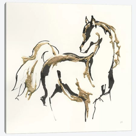 Golden Horse VIII Canvas Print #CPA56} by Chris Paschke Canvas Print