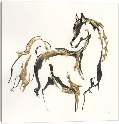 Golden Horse VIII Canvas Art Print
