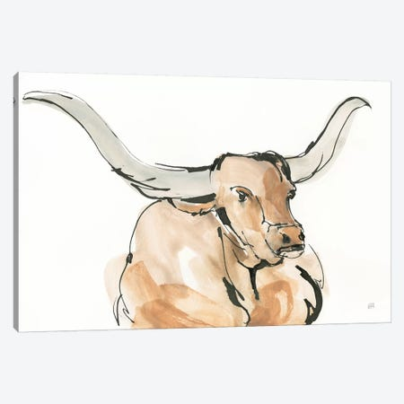 Longhorn I Canvas Print #CPA84} by Chris Paschke Canvas Artwork
