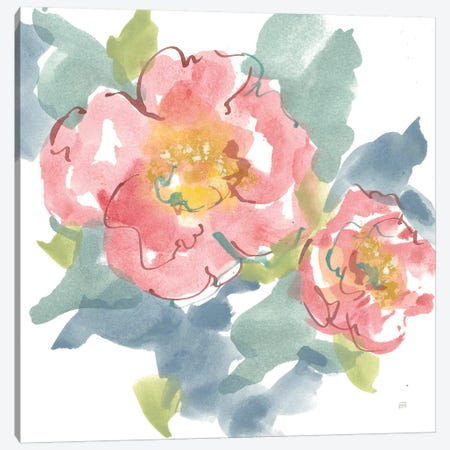 Peony in the Pink I on White Canvas Print #CPA86} by Chris Paschke Canvas Wall Art