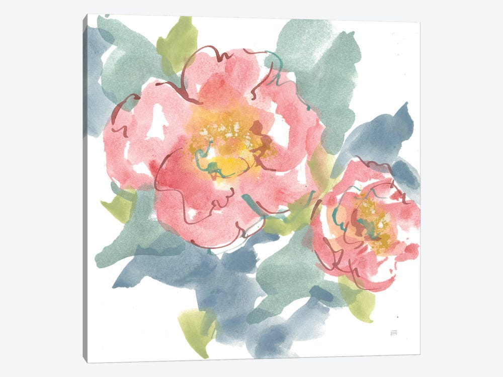 Peony in the Pink I on White by Chris Paschke 1-piece Canvas Artwork