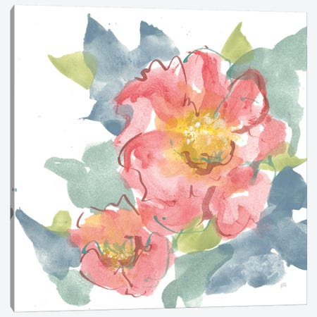 Peony in the Pink II on White Canvas Print #CPA87} by Chris Paschke Canvas Artwork