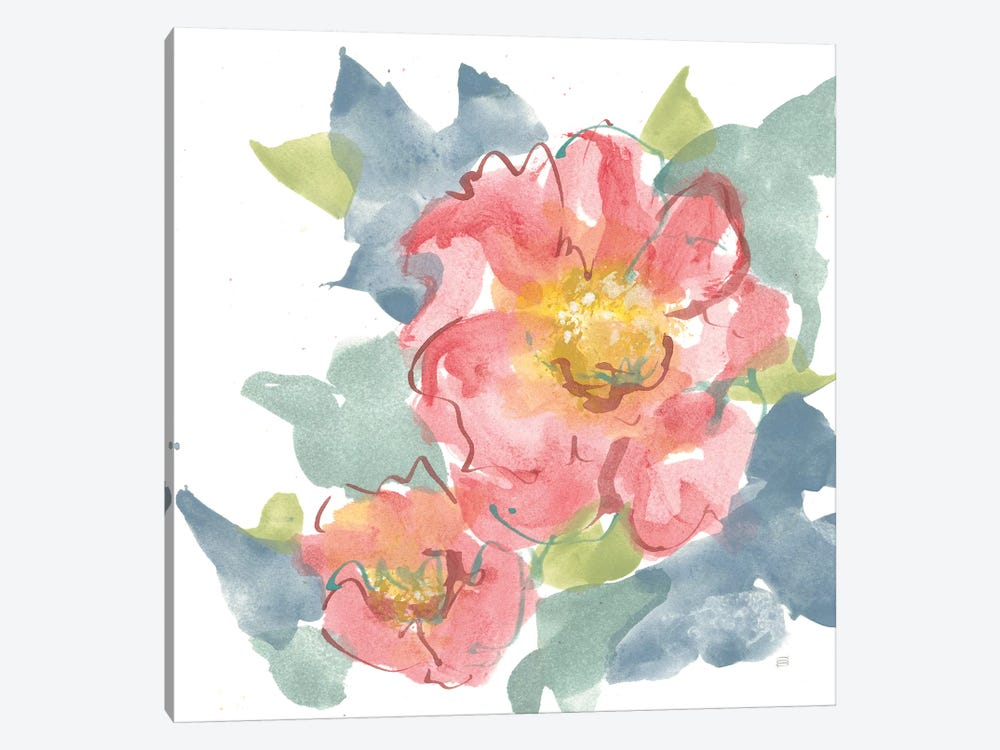 Peony in the Pink II on White by Chris Paschke 1-piece Art Print