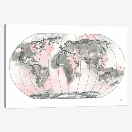 World Map Blush v2 Canvas Print #CPA89} by Chris Paschke Canvas Print