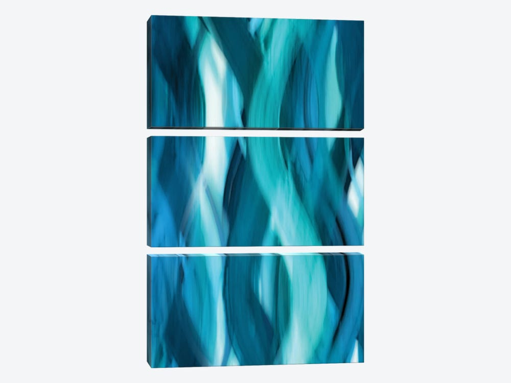Aqua Flow by Annie Campbell 3-piece Canvas Art Print