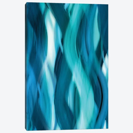 Aqua Flow Canvas Print #CPB1} by Annie Campbell Canvas Art Print