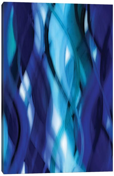 Indigo Flow II Canvas Art Print