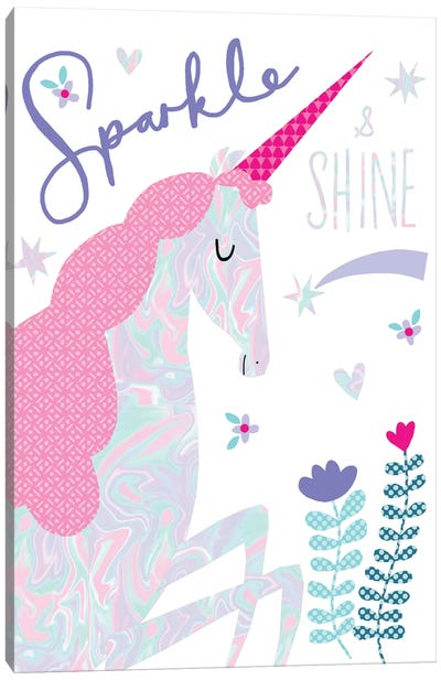 Sparkle Unicorn Canvas Art Print
