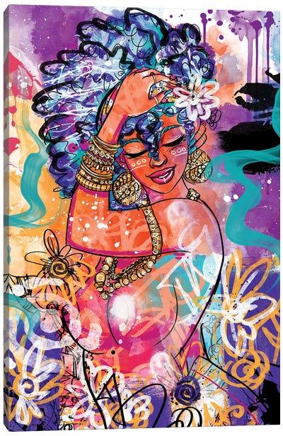 Gold Flowers Canvas Art Print