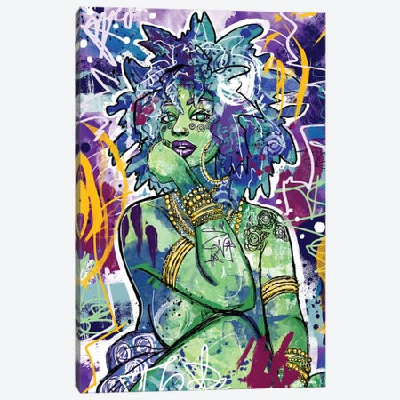 Subira Canvas Print #CPL6} by Justin Copeland Canvas Artwork