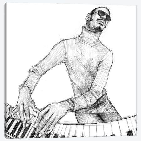 Stevie Wonder Canvas Print #CPN21} by Christian Paniagua Canvas Wall Art
