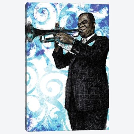 Louis Armstrong Canvas Print #CPN30} by Christian Paniagua Art Print