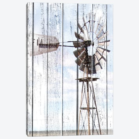 White Washed Windmill Canvas Print #CPP12} by Anna Coppel Canvas Art Print