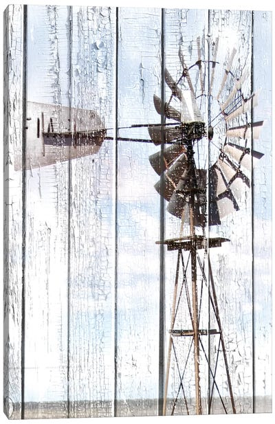 White Washed Windmill Canvas Art Print